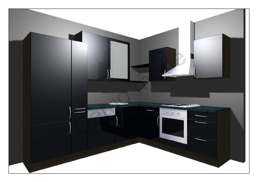 Keukenkast zwart home design idee n en meubilair inspiraties - Meubilair zwarte keuken lak ...